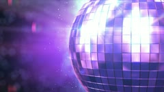 Beautiful Disco Ball Spinning seamless with flares. Close-up. HD 1080. Stock Footage