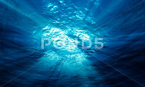 Stock photo of light underwater in the ocean