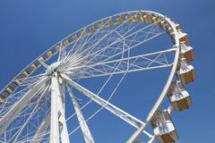 ferris wheel in an amusement park - stock photo