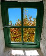 Autumn Window Stock Photos