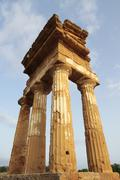 antique greek temple in agrigento, sicily - stock photo
