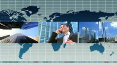 Montage Global Business images Stock Footage