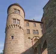 Wertheim castle detail in sunny ambiance Stock Photos