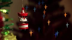 Christmas-tree decorations - carousel Stock Footage