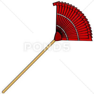 Stock Illustration of garden rake