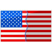 Stock Illustration of usa divided and stitched