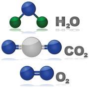 Common molecules Stock Illustration