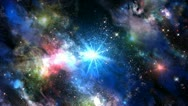 Stock Video Footage of Space colorful stars