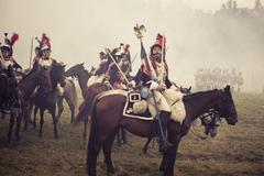 The Battle of Borodino in 1812. War. Battle. Horse. Stock Photos