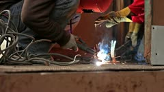 Sparks on Job Site - stock footage