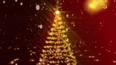 Christmas tree and family's animation Stock Footage