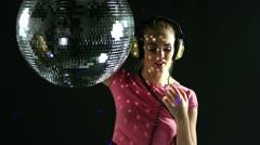 Headphones gogo dancer 4k Stock Footage