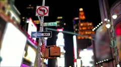 Times Square in New York City Stock Footage