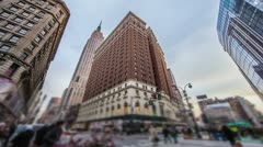 34th Street in New York City - stock footage