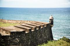 San Juan Puerto Rico castle - stock photo