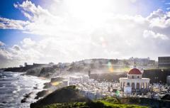 San Juan graveyard shore - stock photo
