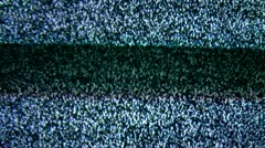 LOOPABLE TV NOISE. no tv connection 3 Stock Footage