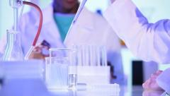 Hands Female Research Assistant Modern Laboratory - stock footage