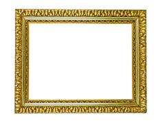 antique golden picture frame - stock photo