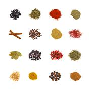 Set of spices Stock Photos