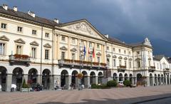 Aosta city hall Stock Photos