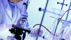 Three Doctors Working in Hospital Laboratory - stock footage