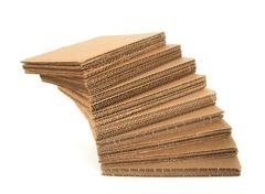 Falling stack of cardboard Stock Photos