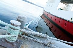 Ship moored at a quay - stock photo