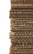 Stacked corrugated cardboard closeup Stock Photos
