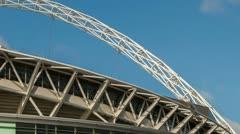 Wembley Stadium time lapse close Stock Footage