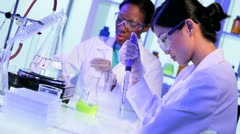 Female Pharmaceutical Researchers Modern Laboratory - stock footage