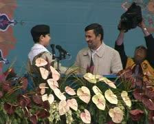 Iran 45. President Ahmadinejad Stock Footage