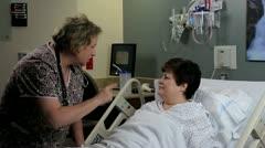 doctors eye exam of patient - stock footage