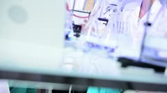 Student Doctors Supervised in Hospital Laboratory Stock Footage