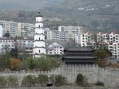 Fengdu county in china Stock Photos