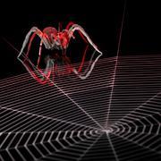 Lurking metallic spider Stock Illustration