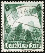 Stamp of fascist germany Stock Photos