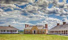historic fort snelling - stock photo
