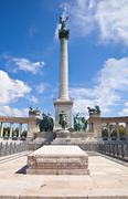 Heroes square in budapest, hungary Stock Photos