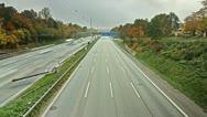 Autobahn Timelpase 08 Stock Footage