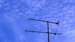 Antenna and clouds timelapse Stock Footage