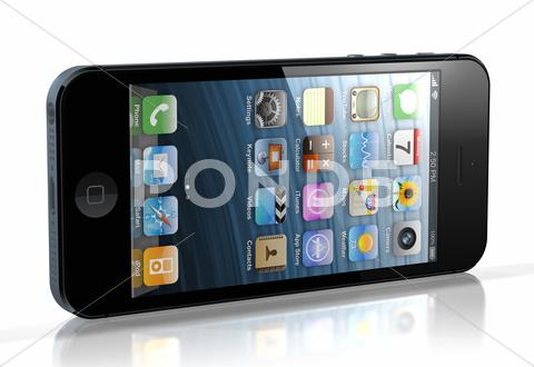 Stock Illustration of new iphone 5