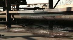 Leak in an industrial water supply. Stock Footage