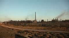 View of a large metallurgical plant. Stock Footage