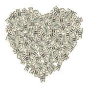 Heart of the money Stock Photos