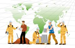 Building workers Stock Illustration