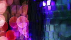 Discoball light effect Stock Footage