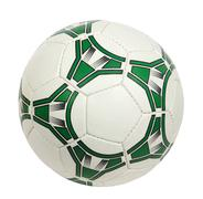 White and green soccer ball Stock Photos