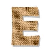 "The letter ""e"" is made of coarse cloth. Stock Photos"