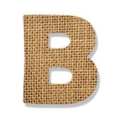 "Stock Photo of the letter ""b"" is made of coarse cloth."